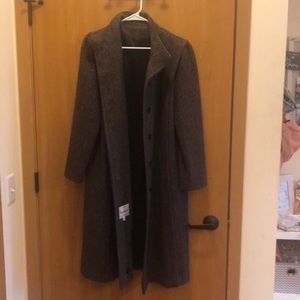 Vintage Trench Wool Coat Projections Long oversize